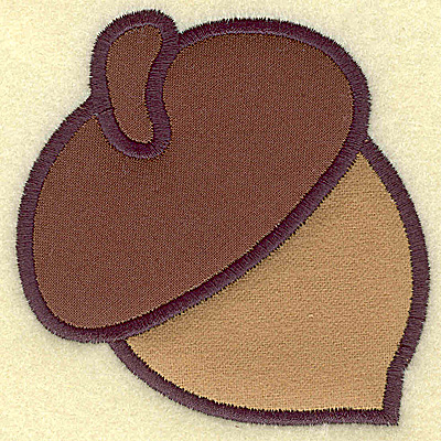 Embroidery Design: Acorn (double applique] 3.49w X 3.52h