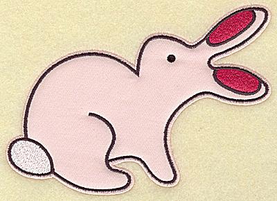 Embroidery Design: Rabbit applique 6.40w X 4.81h