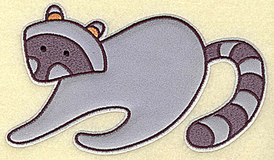 Embroidery Design: Racoon applique 6.87w X 4.00h