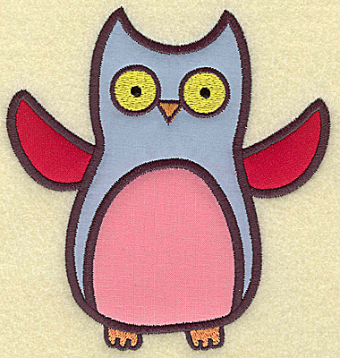 Embroidery Design: Owl (Triple applique) 5.30w X 4.98h
