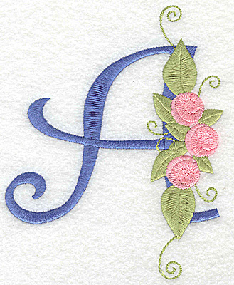 Embroidery Design: A large 4.32w X 5.35h