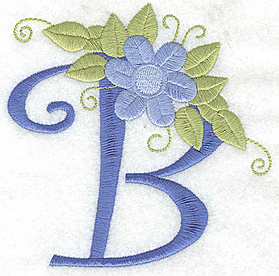 Embroidery Design: B large 4.24w X 4.27h