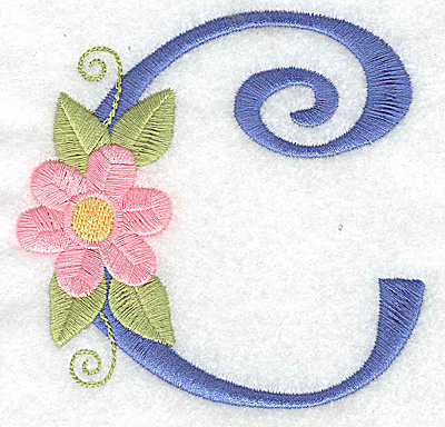 Embroidery Design: C large 3.67w X 3.59h