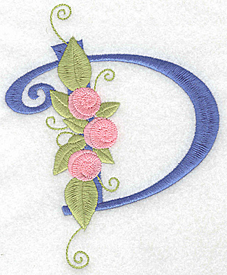 Embroidery Design: D large 4.31w X 5.35h