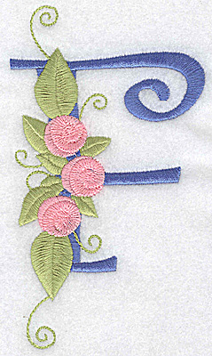 Embroidery Design: F large 3.04w X 5.35h