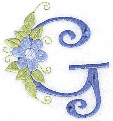 Embroidery Design: G large 4.62w X 5.04h