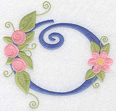 Embroidery Design: O large  5.13w X 4.99h