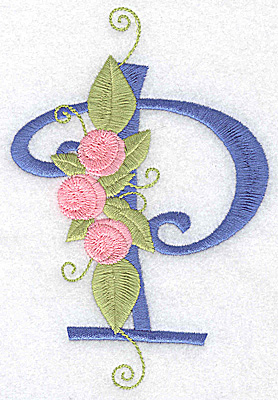Embroidery Design: P large 3.51w X 5.19h
