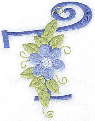 Embroidery Design: T large  3.94 wX 5.05h