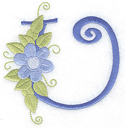 Embroidery Design: U large 4.42w X 4.65h