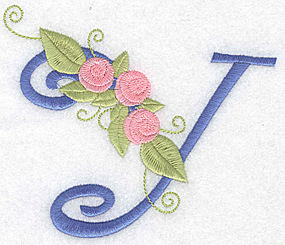 Embroidery Design: Y large 4.95w X 4.37h