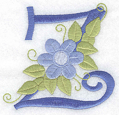 Embroidery Design: Z large 3.75w X 3.57h