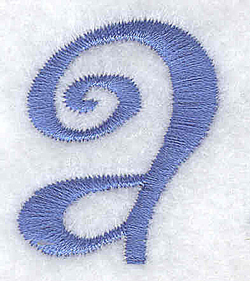 Embroidery Design: a lower case 1.09w X 1.30h