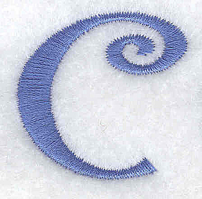 Embroidery Design: c lower case 1.29w X 1.27h
