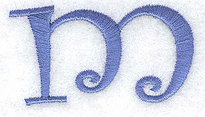 Embroidery Design: m lower case 2.40w X 1.31h