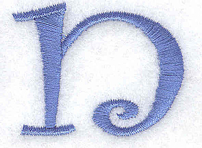 Embroidery Design: n lower case 1.73w X 1.34h