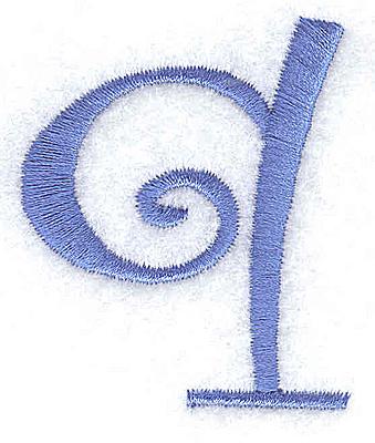Embroidery Design: q lower case 1.64w X 1.98h