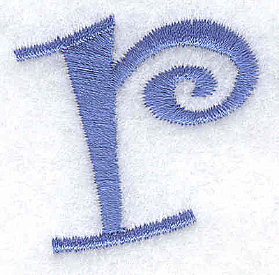 Embroidery Design: r lower case 1.42w X 1.41h
