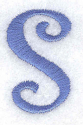 Embroidery Design: s lower case 0.90w X 1.46h