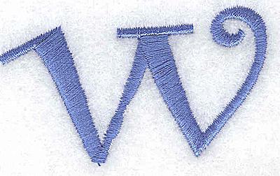 Embroidery Design: w lower case 2.47w X 1.42h