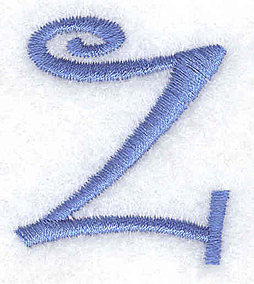 Embroidery Design: z lower case 1.34w X 1.55h