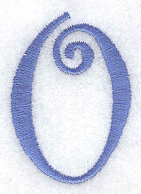 Embroidery Design: 0 number 1.44w X 2.03h