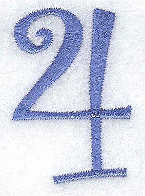 Embroidery Design: 4 number 1.35w X 2.01h