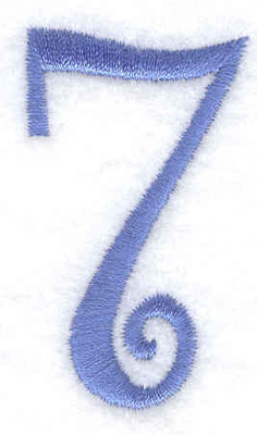 Embroidery Design: 7 number 1.16w X 2.02h
