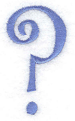 Embroidery Design: Question mark 1.13w X 2.01h