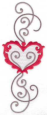 Embroidery Design: Floral Heart 1149.72w X 3.74h
