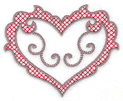 Embroidery Design: Heart 121 small 3.65w X 2.95h