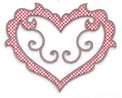Embroidery Design: Heart 122 large 5.00w X 4.04h