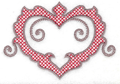 Embroidery Design: Heart 123 small 3.84w X 2.71h