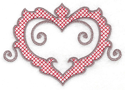 Embroidery Design: Heart 124 large 4.98w X 3.52h