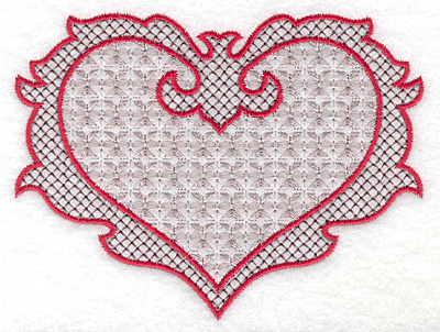 Embroidery Design: Heart 125 with motif 4.99 X 3.76