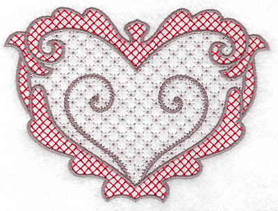 Embroidery Design: Heart 126 with motif 5.00w X 3.70h