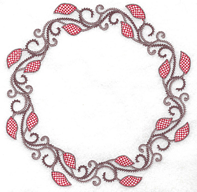 Embroidery Design: Circle of Vines  6.98w X 6.98h
