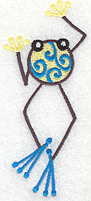 Embroidery Design: Frog A large 2.06w X 4.93h