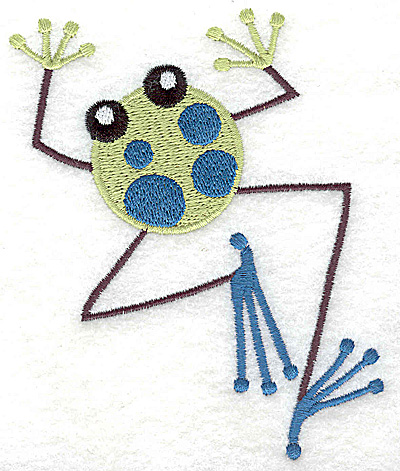 Embroidery Design: Frog B large 3.78w X 4.50h