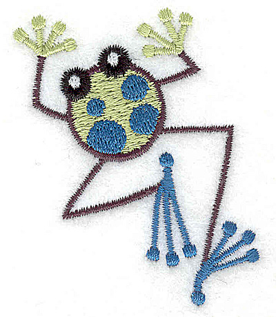 Embroidery Design: Frog B mini 2.20w X 2.60h