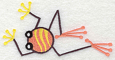 Embroidery Design: Frog D large 4.94w X 2.50h