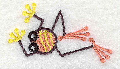 Embroidery Design: Frog D mini 2.50w X 2.35h