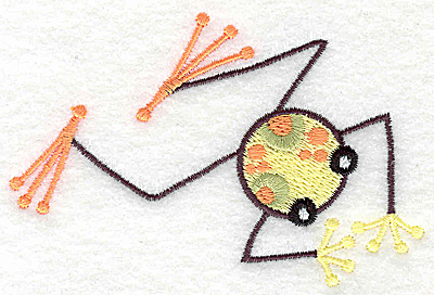 Embroidery Design: Frog E small 3.87w X 2.60h