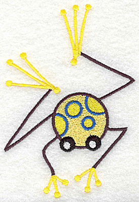 Embroidery Design: Frog F large 3.36w X 4.93h
