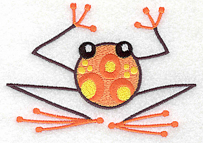 Embroidery Design: Frog G large 4.54w X 3.17h