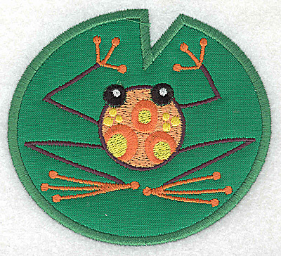 Embroidery Design: Frog G applique 3.86w X 3.51h