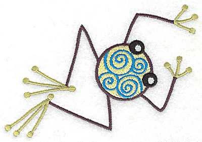 Embroidery Design: Frog H large 4.94w X 3.43h