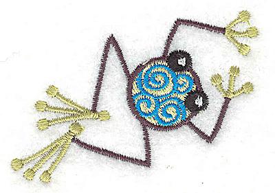 Embroidery Design: Frog H mini 2.57w X 2.91h
