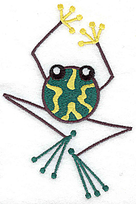 Embroidery Design: Frog I large 3.29w X 4.94h
