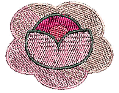 Embroidery Design: Flower 1 1.99w X 1.63h